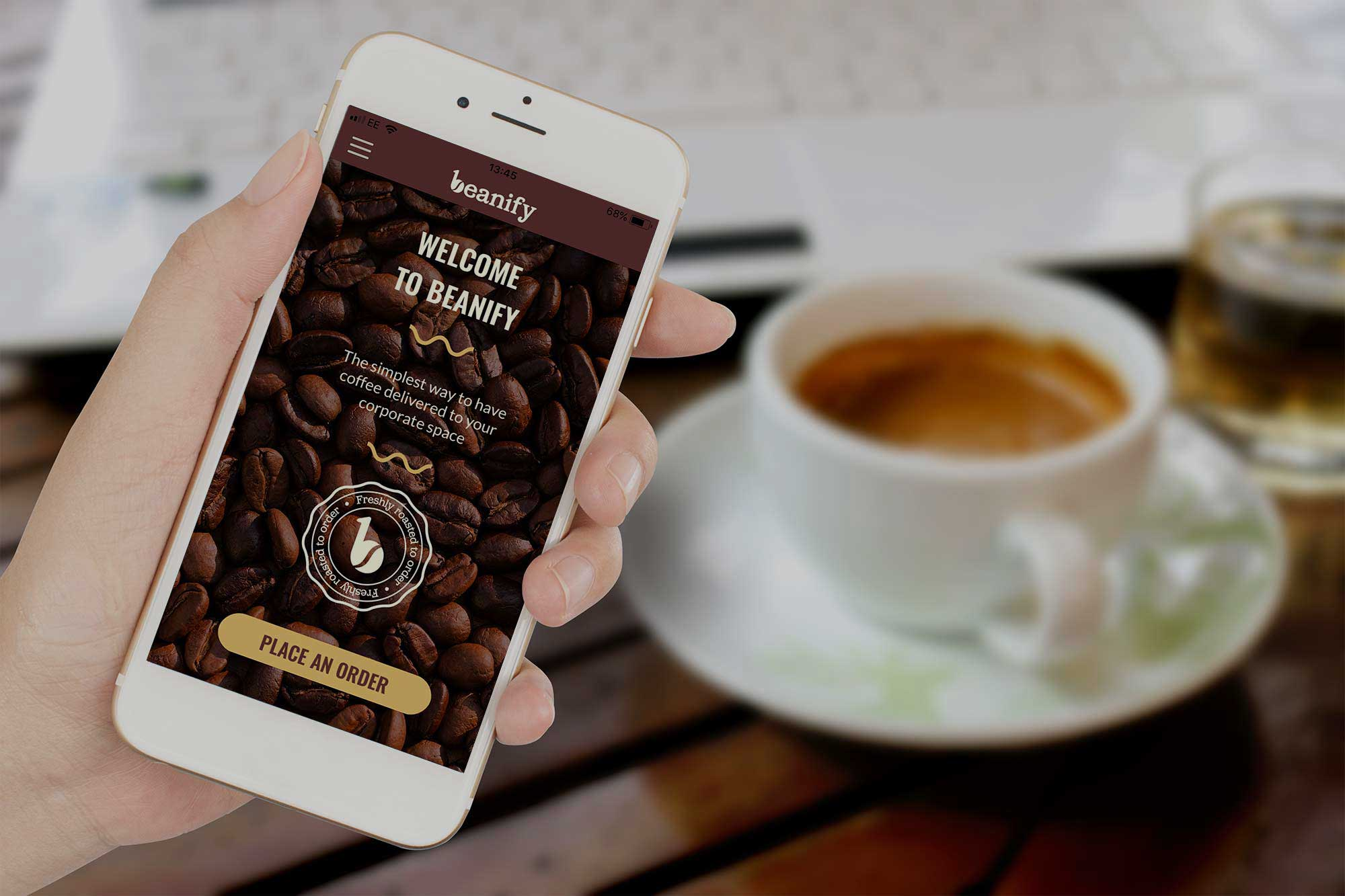 app to order coffee to businesses
